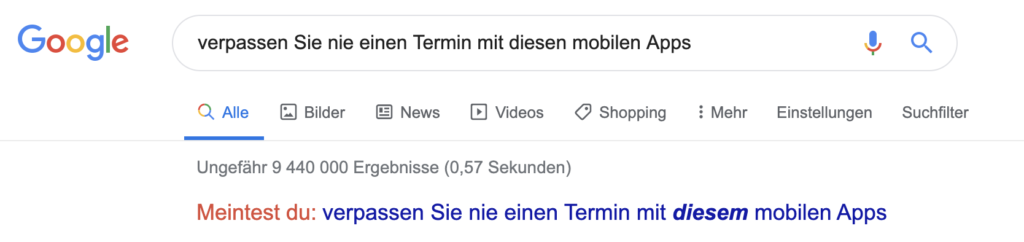 Google-Suche-Long-Tail-Keyword
