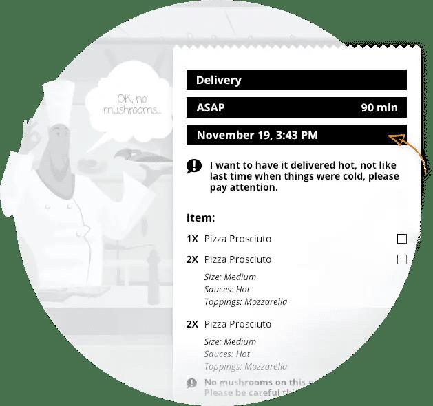 Vorlagen für Restaurantquittungen